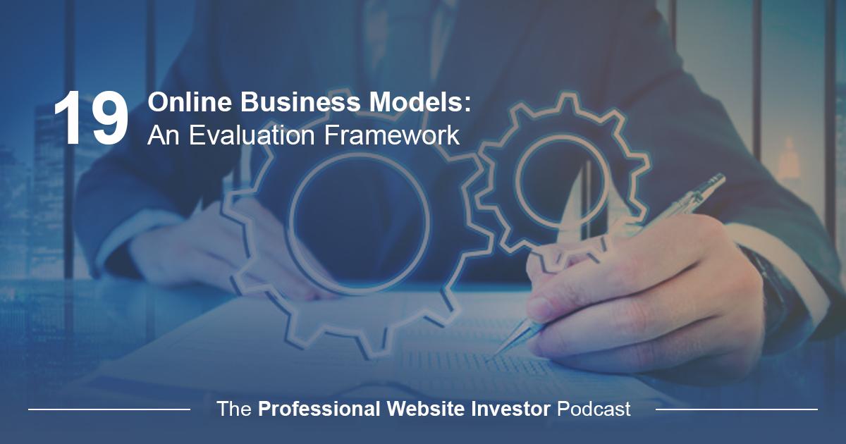 Online Business Models: An Evaluation Framework